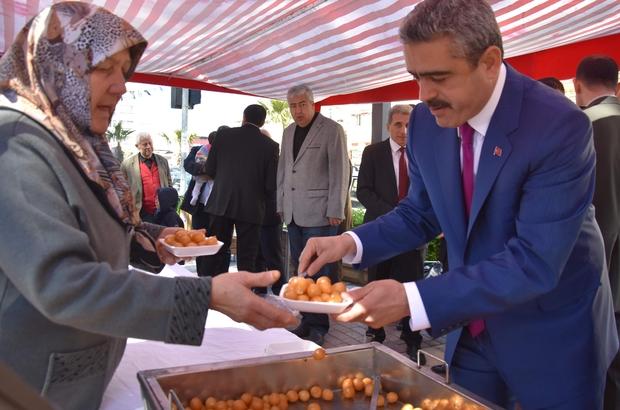 Nazilli'de Çanakkale şehitleri için lokma hayrı yapıldı