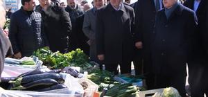 Maliye Bakanı Ağbal, halk pazarını gezdi