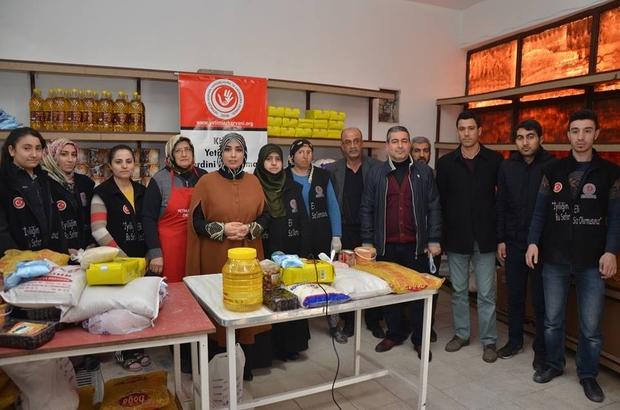 Yetimler kervanından 403 aileye gıda yardımı