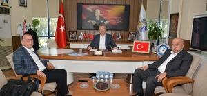 Matlı ve Güncü'den Başkan Özkan'a Ziyaret