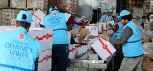 TDV'den Suriye'ye 50 tır gıda yardımı