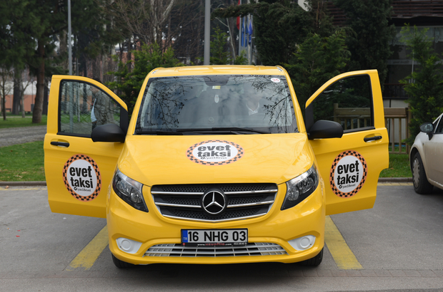 """""""Evet Taksi"""" Bursa yollarında"""