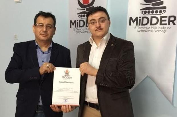 15 Temmuz Milli İrade ve Demokrasi Derneği Tepebaşı İlçe Temsiliciğine Zekai Aydın atandı