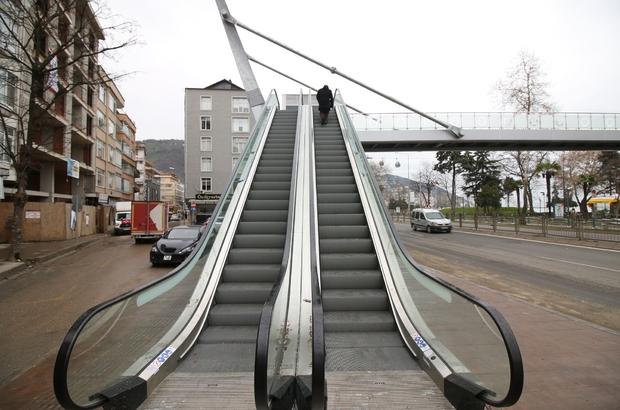 Ordu'ya yürüyen merdivenli üst geçit