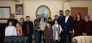 Down sendromlu öğrenciler vali Ustaoğlu'nu ziyaret etti
