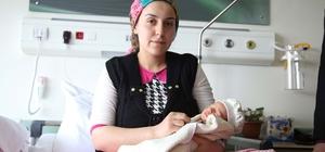 Şehir hastanesinin ilk bebeği şansıyla doğdu