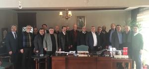 Bozüyük TSO yöneticilerinden Bahattin Şeker'e geçmiş olsun ziyareti