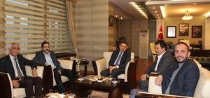 Ağrı'da İHA Bölge müdürleri Turkez ve Akyüz'ün ziyaretleri