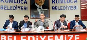 Kumluca Belediyesinde 6 ay çalışacak işçiler için kura çekimi yapıldı