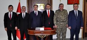 Kamu Başdenetçisi Malkoç, Vali Haktankamaz'ı ziyaret etti