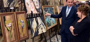 Hadra Hamamı'nda resim ve heykel sergisi