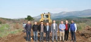 Gördes'te doğalgaz hattı çalışmaları başladı