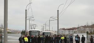 Akçaray Tramvay Projesi'nin test sürüşü yapıldı