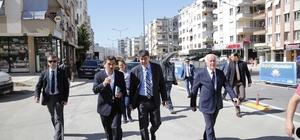 Türel,  Cumhurbaşkanı Erdoğan'ın açacağı Tonguç Caddesi'ni inceledi