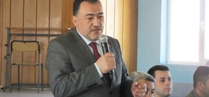 Milletvekili Mustafa Şükrü Nazlı'nın Hisarcık'ta referandum çalışmaları