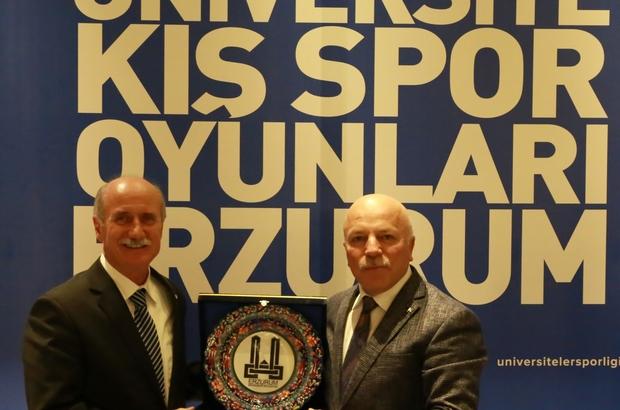 Erzurum'da 3. Ünilig kış spor oyunları heyecanı