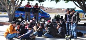 Manavgat'ta kaçak göçmen operasyonu