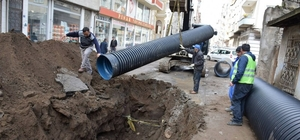 Fatsa'da yağmur suyu hattı yenileme çalışmaları