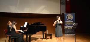 Flüt ve piyano resitali büyük ilgi gördü