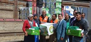 Suudi Arabistan'dan Elbeyli ilçesindeki Suriyelilere yardım