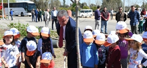 Başkan Böcek, kreş öğrencileriyle ağaç dikti