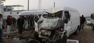 Adana'da trafik kazası: 1 ölü, 18 yaralı