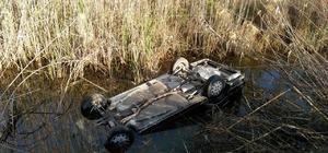 Köyceğiz'de otomobil sulama kanalı devrildi; 1 yaralı