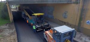 Köseköy'de bozuk zeminler asfaltlanıyor