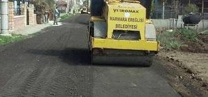 Marmaraereğlisi'nde yol onarım çalışmaları