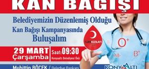 Başkan Böcek'ten kan bağışı için davet