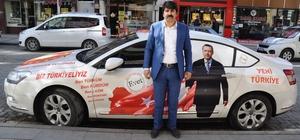 Erdoğan'a destek için yola çıkan Özavcı, Gümüşhane'de