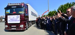 Trabzon'dan Suriye'ye 8 tır yardım
