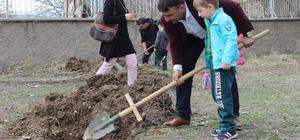 Elazığ'da öğrenciler, fidan dikti