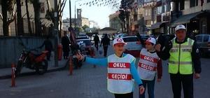 Sinop'ta okul geçidi görevlileri ilk denetimlerini yaptı
