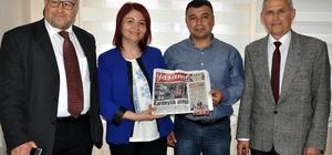 AGC'den 'Kentte Yaşam' gazetesine ziyaret