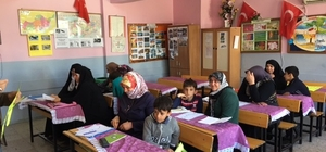 Okuma yazma kursları devam ediyor