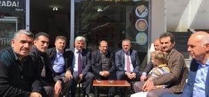 Başkan Sağıroğlu referandum çalışmaları kapsamında Kaşüstü mahallesinde esnaf ve vatandaşları ziyaret etti