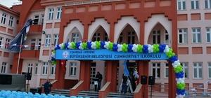 Ergene Cumhuriyet İlkokulu törenle valiliğe teslim edildi