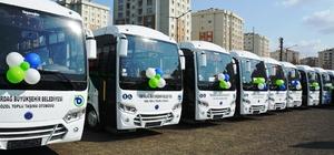 TETUS kapsamında 45 araç hizmete başladı