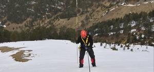 Zigana Dağı'nda arama kurtarma tatbikatı