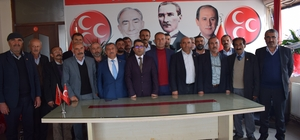 Akçadağ Muhtarlar Derneği Başkanı Eyüp Gönültaş'tan MHP'ye ziyaret