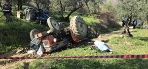 Bursa'da traktör devrildi: 1 ölü