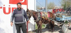 İncirliovalı at arabacıları dert taşımaya başladı