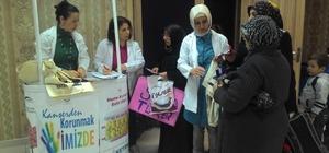 Canik'te halka ve öğrencilere kanser anlatılıyor