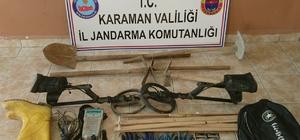 Karaman'da kaçak kazı yapan 3 kişi yakalandı