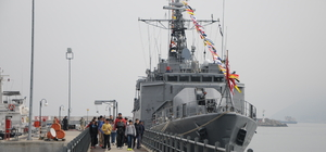 TCG Bafra savaş gemisi ziyarete açıldı