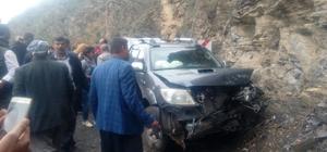Kayadan kaçarken kaza yaptı