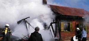 Gönüllü itfaiyecilerden yangına hızlı müdahale