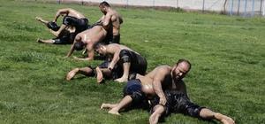 Döşemealtı güreş takımı yağlı antrenmanlara başladı