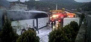 Artvin'de park halindeki yolcu otobüsleri kundaklandı